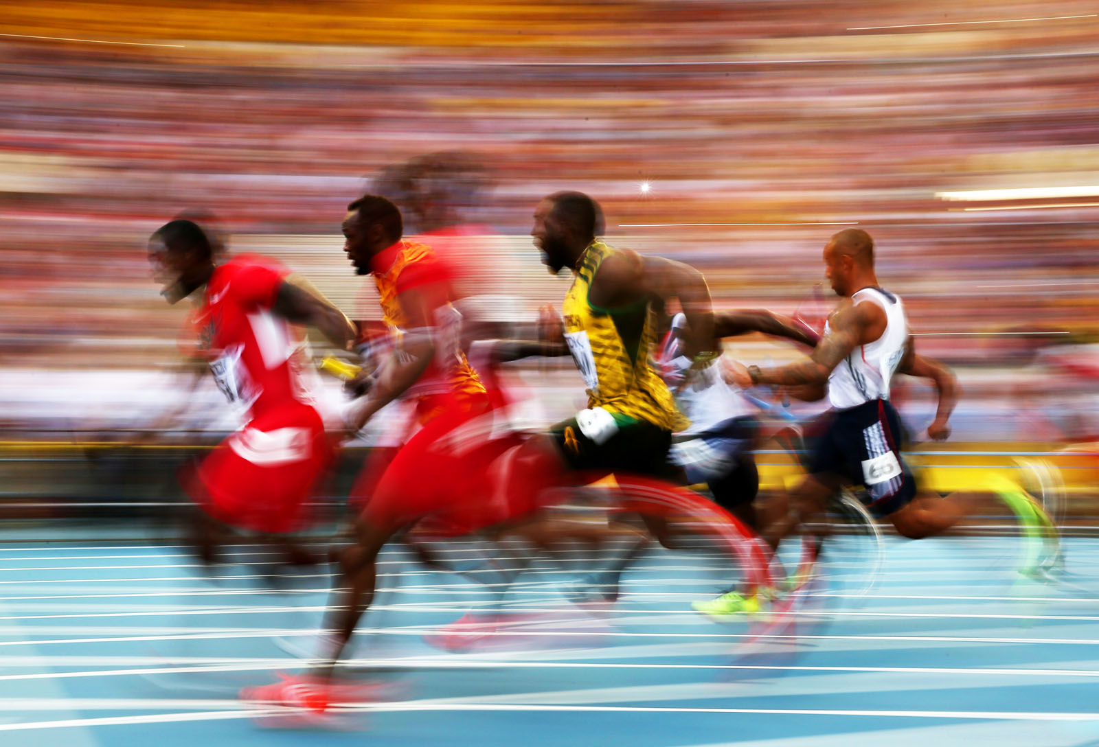 ATHLETICS-WORLD-2013-4X100M